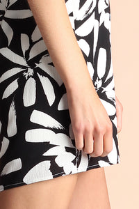 Graphic Daisy One Shoulder Dress