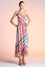 Load image into Gallery viewer, Rainbow Stripe High Low Dress - Ahri