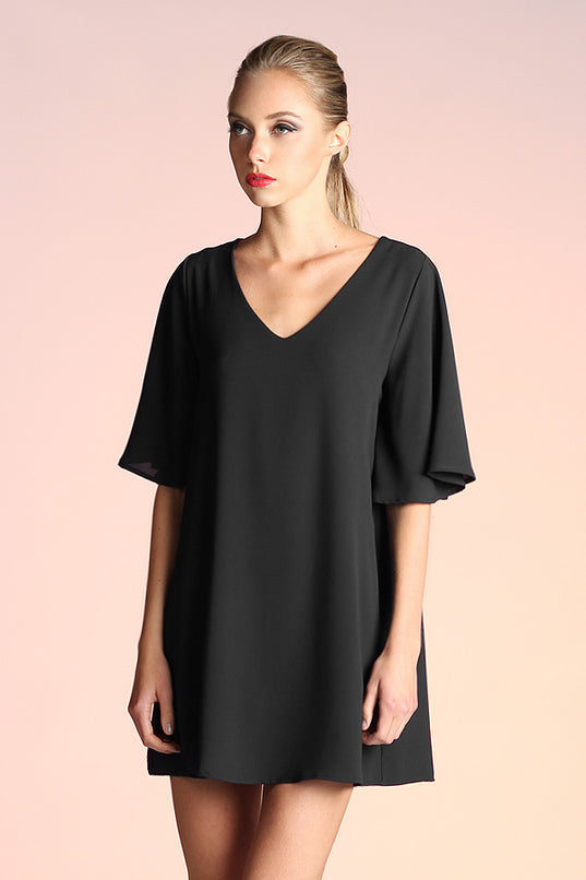 Take it Easy Shift Dress - Black