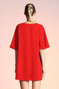 Take it Easy Shift Dress - Red