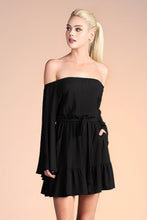 Load image into Gallery viewer, Off Shoulder Bell Sleeve Dress - Ahri