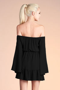 Off Shoulder Bell Sleeve Dress - Ahri