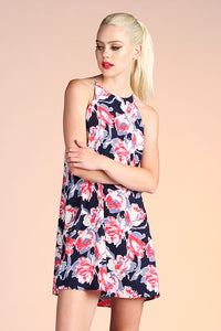 Abstract Floral Shift Dress - Ahri
