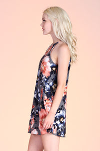 Fall Flower Shift Dress