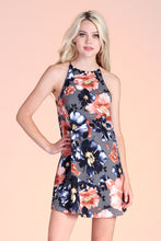 Load image into Gallery viewer, Fall Flower Shift Dress