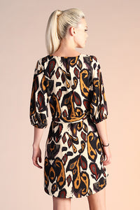 Kashmir Paisley Sleeved Dress - Ahri