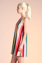 Load image into Gallery viewer, Sunset Rainbow Stripe Shift Dress - Ahri