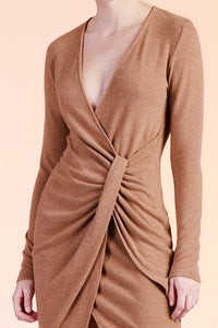 French Twist Sweater Bandage Dress - Ahri