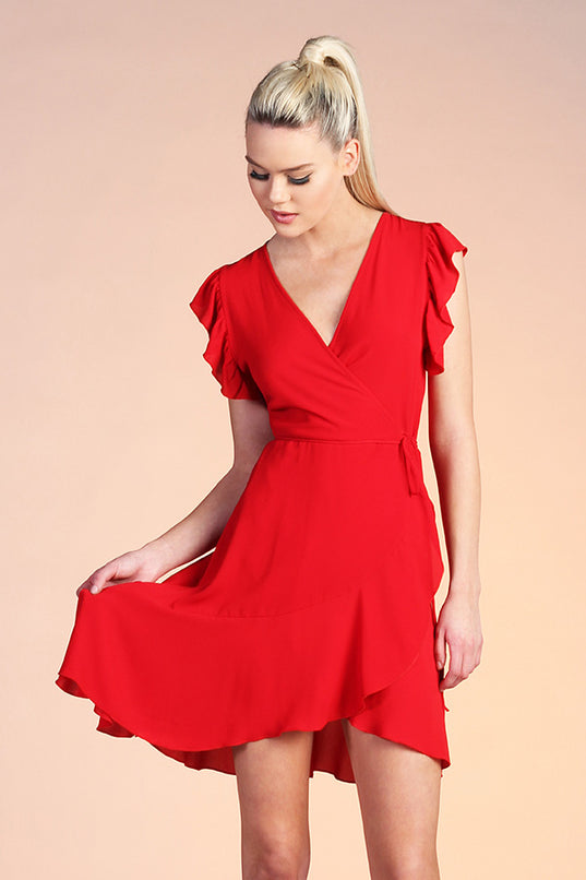 Señorita Wrap Midi Dress - Ahri