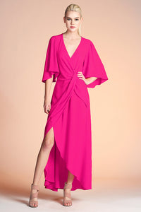 Side Twist Wrap Maxi Dress - Ahri