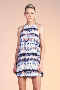 Accordion Tie Dye Shift Dress - Ahri