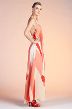 Load image into Gallery viewer, Geo Curve Halter Maxi Dress - Ahri