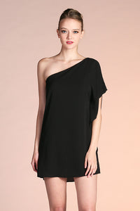 Classic One Shoulder Mini Dress - Ahri