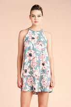Load image into Gallery viewer, Watercolor Peony Shift Dress - Ahri