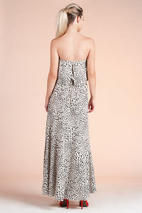 Snow Leopard Maxi Dress - Ahri