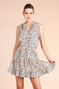 Snow Leopard Baby Ruffle Day Dress - Ahri