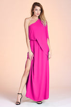 Load image into Gallery viewer, Slouchy One Shoulder Maxi Dress