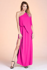 Slouchy One Shoulder Maxi Dress