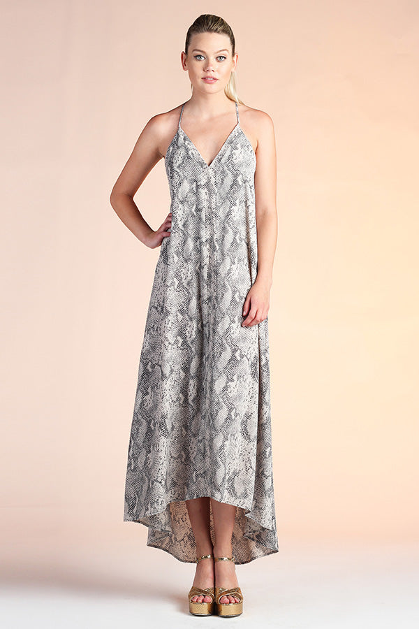 Rattle Snake Wrap Midi Dress - Ahri