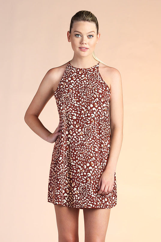 Kiara Leopard Shift Dress - Ahri