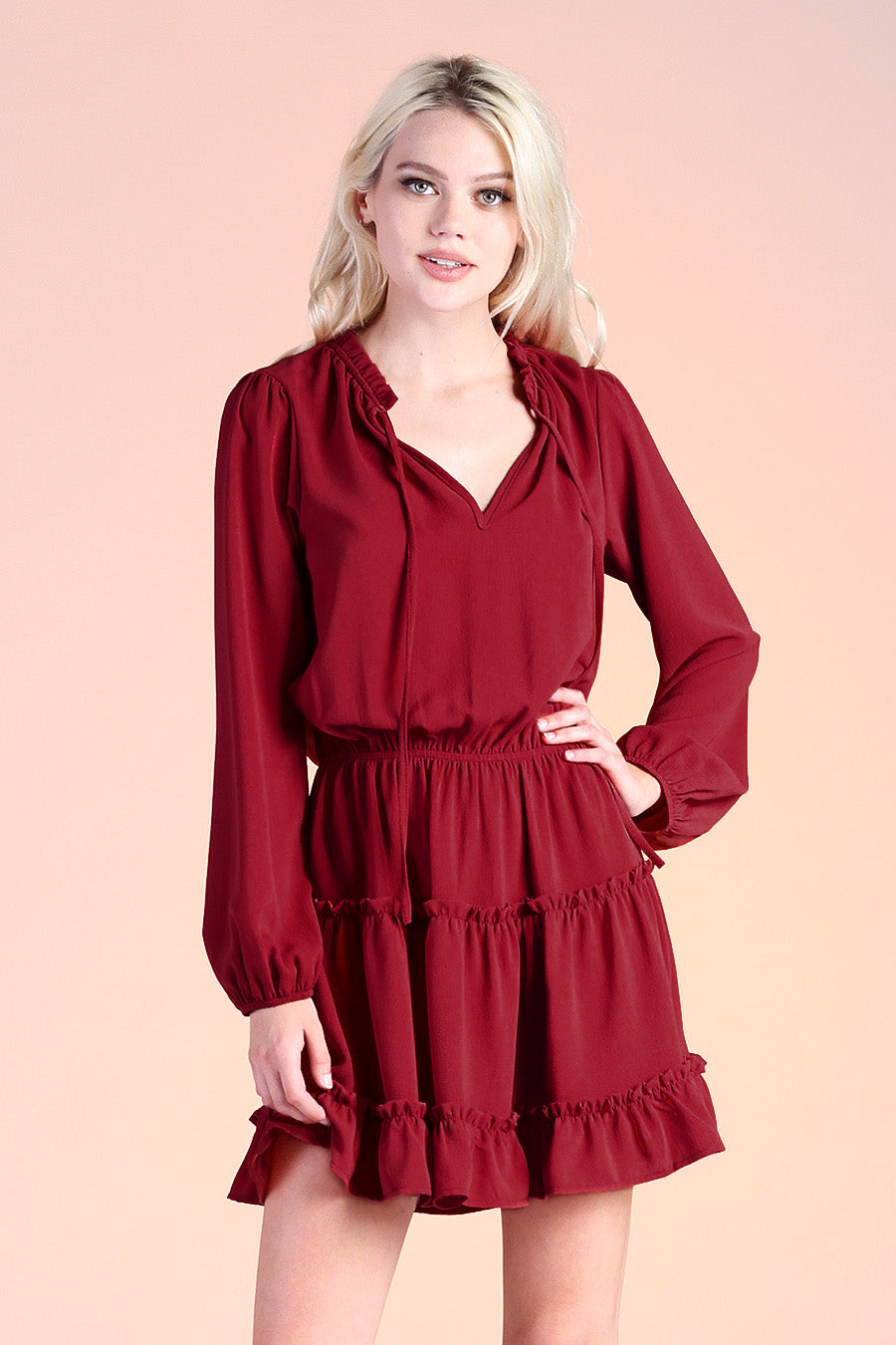Baby Ruffle Long Sleeve Dress