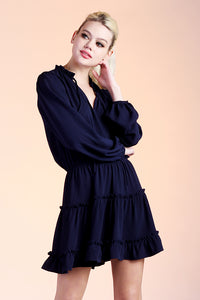 Baby Ruffle Long Sleeve Dress - Ahri