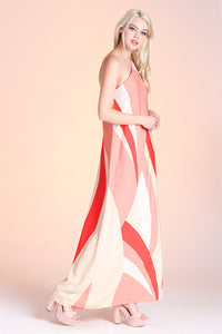 Geo Curve One Shoulder Maxi Dress