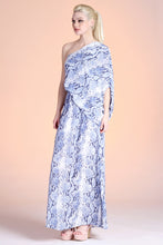 Load image into Gallery viewer, Delicate Python Slouchy One Shoulder Maxi Dress