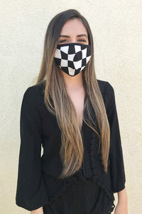Checkered Face Mask - Ahri