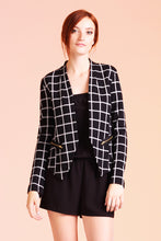 Load image into Gallery viewer, Paris Windowpane Stretch Blazer - Ahri