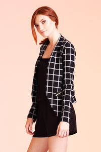Paris Windowpane Stretch Blazer - Ahri
