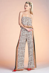 Leopard Queen Strapless Jumpsuit - Ahri
