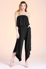 Load image into Gallery viewer, Slanted Hem Strapless Jumpsuit