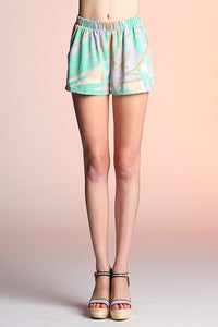 Abstract Palm Shorts