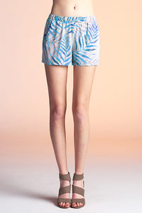 Watercolor Palm Leaf Shorts - Ahri
