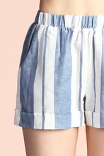 Load image into Gallery viewer, Resort Stripe Linen Shorts - Ahri