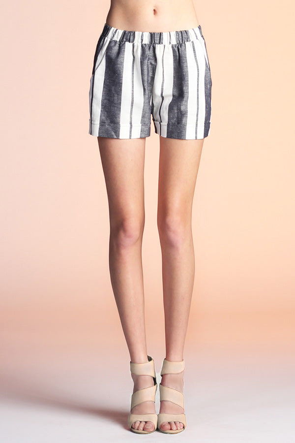 Resort Stripe Linen Shorts - Ahri