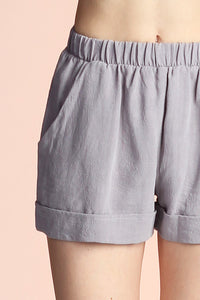 Washed Cotton Shorts - Ahri
