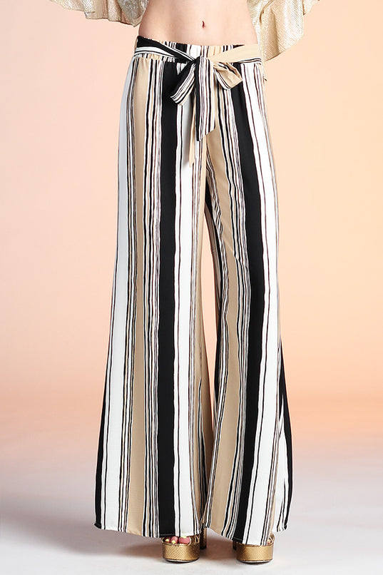Parisian Wide Leg Tie Pants - Ahri