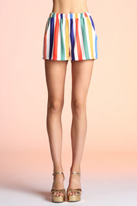 Rainbow Stripe Shorts - Ahri