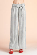 Load image into Gallery viewer, Pinstripe Wide Leg Tie Pants - Ahri