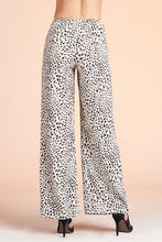 Load image into Gallery viewer, Snow Leopard Wide Leg Tie Pants - Ahri