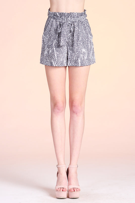 Goddess Net Paper Bag Shorts