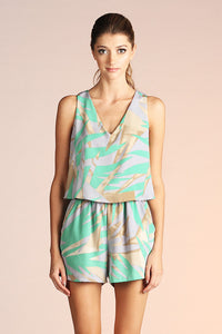Abstract Palm Romper
