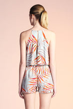 Load image into Gallery viewer, Watercolor Palm Leaf Romper - Ahri