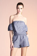 Load image into Gallery viewer, Off Shoulder Linen Romper - Ahri