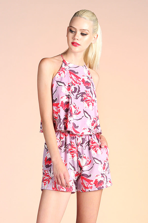 Abstract Floral Romper - Ahri