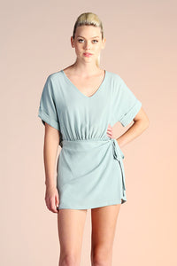 Side Wrap Romper - Pistachio
