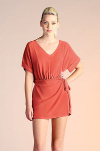 Side Wrap Romper - Terracotta
