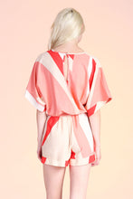Load image into Gallery viewer, Geo Curve Kimono Romper